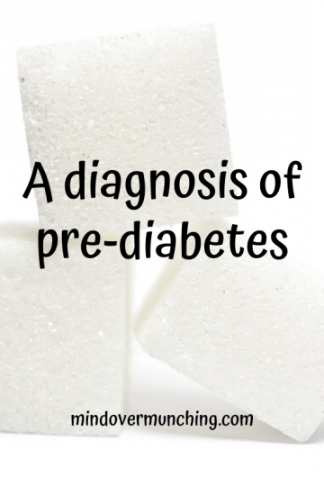 a diagnosis of pre-diabetes
